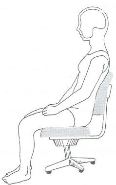 جای نشستن صندلی نباید زیاد پرو نرم باشد